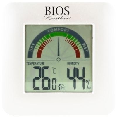 BIOS Living Digital Indoor Hygrometer with Temperature COMFORT SCALE MIN / MAX MEMORY