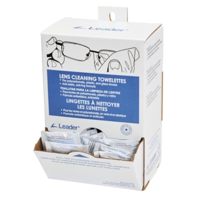 """Leader Lens Cleaning Towelettes ANTI-FOG AND ANTI-STATIC 5""""X 8"""""""