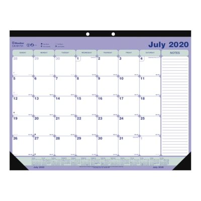 """Blueline 13-Month Academic Monthly Desk Pad Calendar , 21 1/4"""" x 16"""", July - July, English PAD 21-1/4""""X16"""" JULY-JULY ENG."""