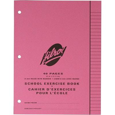 Cahier d'exercices pour l'école Hilroy PERFORE 3 TROUS  40 PAGES