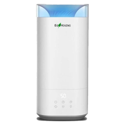 Ecohouzng Ultrasonic Top-Fill Humidifier, White WHITE  3-SPEED MIST CONTROL 5L (10 PINTS) TANK CAPACITY