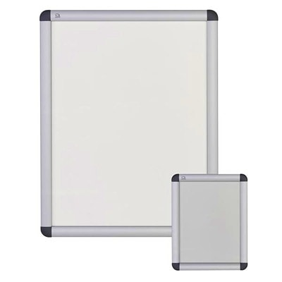 """Quartet Improv Clip Aluminum Frame Sign, Table-Top or Wall Mount, 8 1/2"""" x 11"""" SIGN HOLDER TABLETOP OR WALL HORIZONTALLY OR VERTICALLY"""