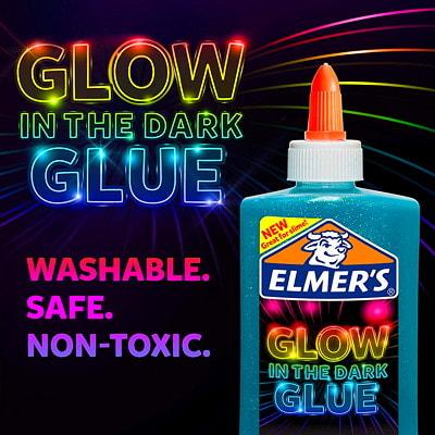 Elmer's Glow in the Dark Glue, Blue, 147 mL GLOW IN THE DARK