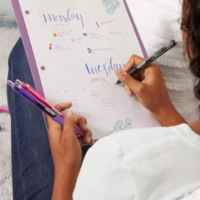 Paper Mate InkJoy Gel Retractable Pens, Assorted Colours, Medium 0.7 mm, 10/PK FASHION COLOURS  PAPER MATE