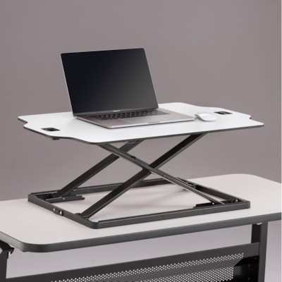Safco Accent Desktop Sit to Stand Laptop Stand, White WHITE