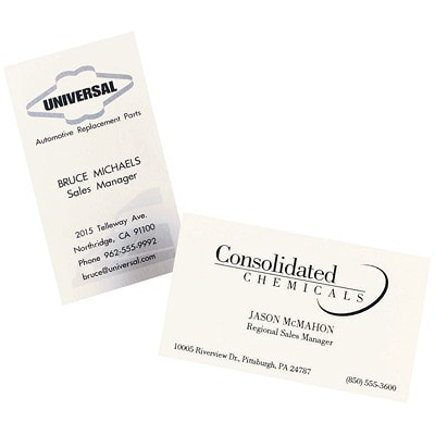 """Avery Micro-Perforated Business Cards for Laser Printers, Matte White, 2"""" x 3 1/2"""", 250/PK MICROPERFORATED LASER PRINTER 80LBS MATTE WHITE"""