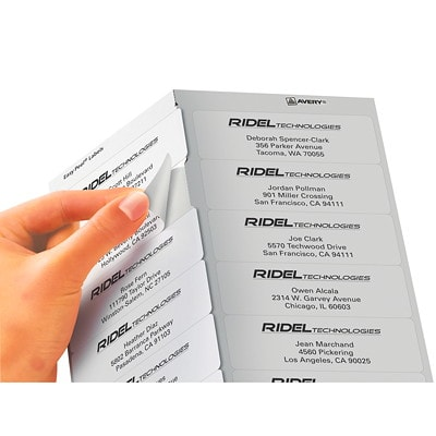 "Avery 8162 Easy Peel Address Labels, White, 1 1/3"" x 4"", 14 Labels/Sheet, 25 Sheets/PK WHITE 14/SHT AVERY 25 SHTS/PK"