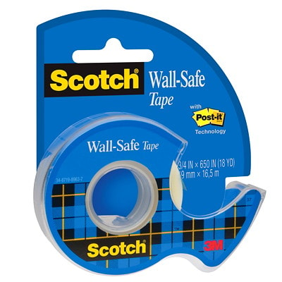 Scotch Wall-Safe Tape, Clear, 19 mm x 16.5 m, Single Pack 19MM X 16.5M