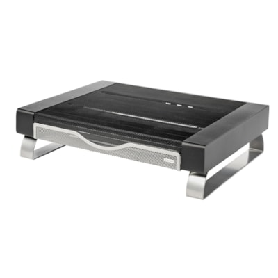 Rolodex Large 2-Tone Mesh Monitor Stand FILE BLACK