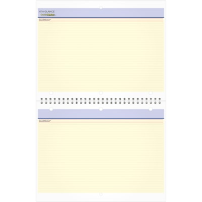 """At-A-Glance QuickNotes 12-Month Monthly Desk/Wall Calendar, 11"""" x 8 1/2"""", January 2021 - December 2021, Bilingual 11X8 3 HOLE PUNCH WIREBOUND BILINGUAL CALENDAR"""