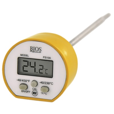 BIOS Living Digital Pocket Thermometer DURABLE STEEL 5  /12.5CM STEM NSF APPROVED
