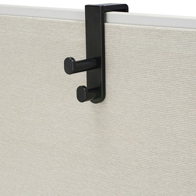 """Safco Over The Panel Double Hook, Black SAFCO ACCOMMODATES PANELS 1/2"""" UP TO 3 1/4"""""""