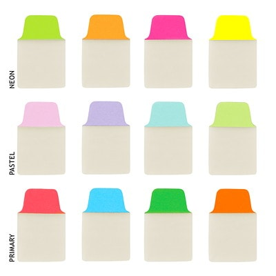 """Avery UltraTabs Repositionable Mini Tabs, Assorted Primary Colours, 1"""" x 1 1/2"""", 80/PK RED  BLUE  GREEN  ORANGE 80PK PRIMARY COLOURS"""