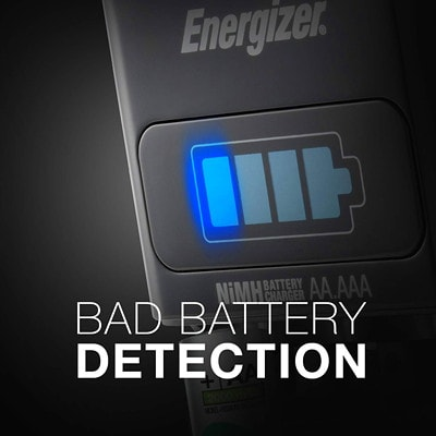 """Energizer 1-Hour Charger with 4 """"AA"""" NiMH Rechargeable Batteries (CH1HRWB-4) W/4AA 2000MAH BAT. POWER GAUGE INDIVIDUAL CHARGING CHANNELS"""