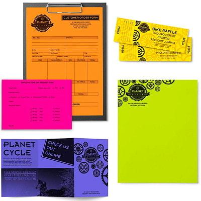 Papier Astrobrights Neenah, couleurs joyeuses, format lettre, certifié FSC et Green Seal, 24 lb, rame 8.5 X11 11.8M 5 COL ASST 500PK 24#