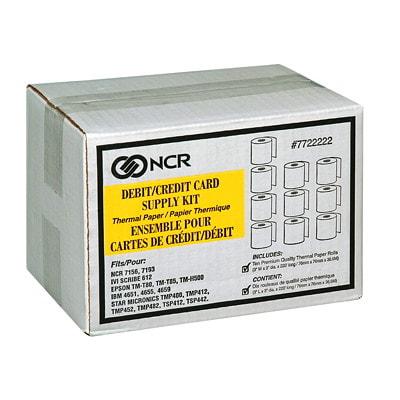 """Ensemble de papier thermique pour cartes de crédit/débit PR CARTE DÉBIT 3""""X220' 3""""DIAM. PR USAGE SUR IVISCRIBE 612MACH"""