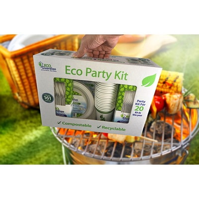 Eco Guardian Compostable Tableware Party Kit TABLEWARE