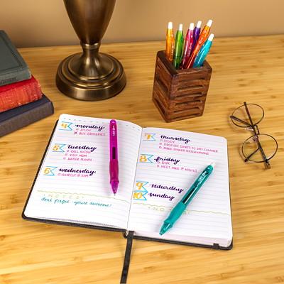 BIC Gel-ocity Retractable Gel Pens, Fashion Colours, Medium 0.7 mm, 8/PK MEDIUM POINT FASHION COLOURS