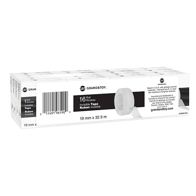 Grand & Toy Invisible Tape Refills, 19 mm x 32.9 m, 16/PK REPLACED 99103