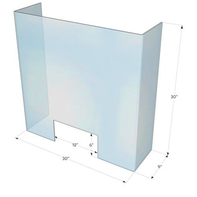 Northern Specialty Supplies Personal Germ Shield Pass-Through Window, Clear Acrylic PASS-THROUGH WINDOW CLEAR ACRYLIC