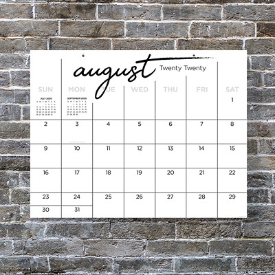 "TF Publishing 12-Month Academic Monthly Desk Calendar, 17"" x 22"", Calligraphy, July 2020 - June 2021, English 22 X 17 ACADEMIC DESK CALENDAR JULY 2020 - JUNE 2021"