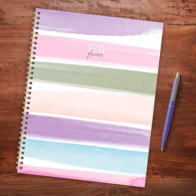 "TF Publishing 12-Month Academic Weekly/Monthly Planner, 9"" x 11"", Painting Me Softly, July 2020 - June 2021, English 9"" X 11"" WEEKLY MONTHLY PLANNR JULY 2020 - JUNE 2021"