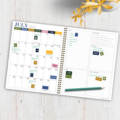 """TF Publishing 12-Month Academic Weekly/Monthly Planner, 9"""" x 11"""", Bee Kind, July 2020 - June 2021, English 9"""" X 11"""" WEEKLY MONTHLY PLANNR JULY 2020 - JUNE 2021"""