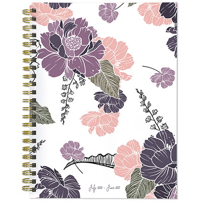 "TF Publishing 12-Month Medium Academic Weekly/Monthly Planner, 6 1/2"" x 8"", Drawn Flowers, July 2020 - June 2021, English	 6 X 8 WEEKLY MONTHLY PLANNER JULY 2020 - JUNE 2021"