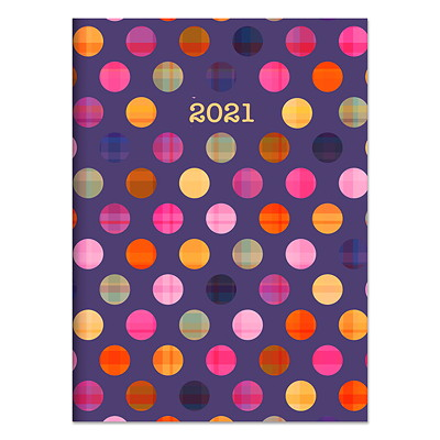 """TF Publishing Monthly Planner, 7 1/2"""" x 10 1/4"""", Polka Dot Plaid, January 2021-December 2021, English  7.5 X 10.25 MONTHLY PLANNER JANUARY 2021 - DECEMBER 2021"""