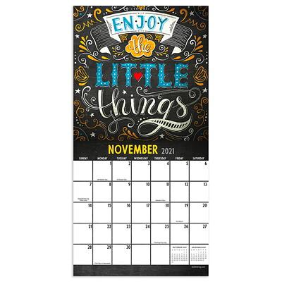 "TF Publishing 12-Month Chalk It Up Monthly Wall Calendar, 7"" x 7"", January 2021 - December 2021, English 2021 7 X 7 MINI CALENDAR"