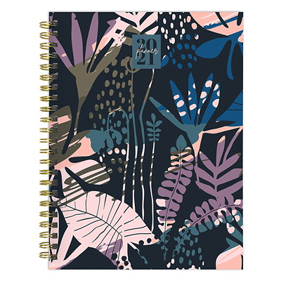 "TF Publishing 12-Month Weekly/Monthly Planner, 6"" x 8"", Painted Foliage, January 2021 - December 2021, English  6 X 8 WEEKLY MONTHLY PLANNER JANUARY 2021 - DECEMBER 2021"