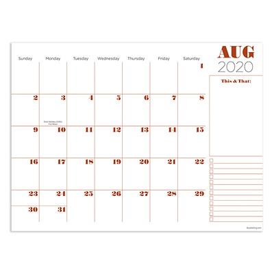 "TF Publishing Professional Mini Academic Desk Pad Calendar, 12"" x 9"", July 2020 - June 2021, English 12 X 9 MINI DESK PAD CALENDAR JULY 2020 - JUNE 2021"