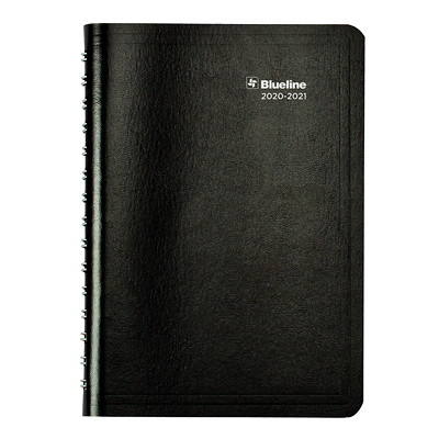 """Blueline 13-Month Weekly/Monthly Academic Planner, 8"""" x 5"""", Black, July 2020 - July 2021, Trilingual 13-MONTH  TRILINGUAL 8 X 5  BLACK"""