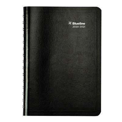 """Blueline 12-Month Daily/Monthly Academic Planner, 8"""" x 5"""", Black, August 2020 - July 2021, Trilingual BLACK SOFT COVER 8 X 5  TRILINGUAL"""