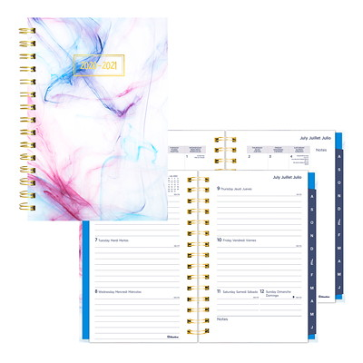 "Blueline 13-Month Academic Weekly/Monthly Planner, 8"" x 5"", Rush Design, July 2020 - July 2021, Trilingual  RUSH DESIGN 8 X 5  TRILINGUAL"