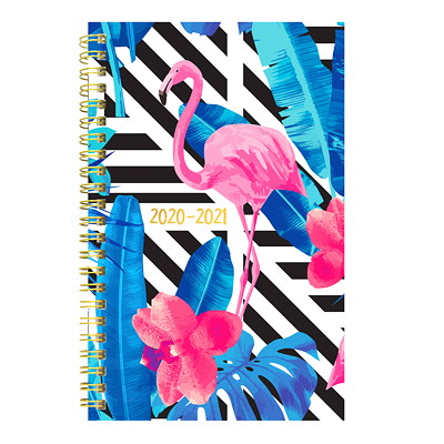 "Blueline 13-Month Academic Weekly/Monthly Planner, 8"" x 5"", Flamingo Design, July 2020 - July 2021, Trilingual  FLAMINGO DESIGN 8 X 5  TRILINGUAL"