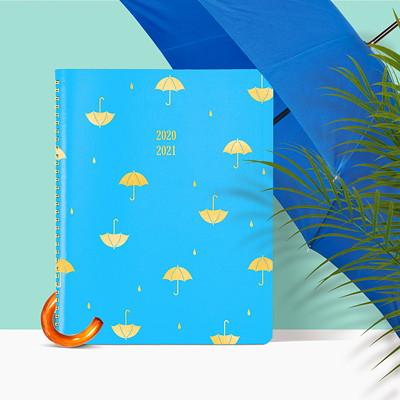 """Blueline 13-Month Funsie Weekly/Monthly Academic Planner, 11"""" x 8 1/2"""", Umbrella Design, July 2020 - July 2021, Trilingual UMBRELLA DESIGN 11 X 8-1/2  TRILINGUAL"""