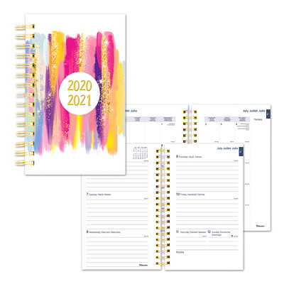 "Blueline 13-Month Academic Weekly/Monthly Planner, 8"" x 5"", Stardust Design, July 2020 - July 2021, Trilingual  13-MONTH  TRILINGUAL 8 X 5  STARDUST DESIGN"