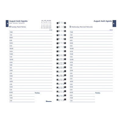 "Blueline 12-Month Daily/Monthly Academic Planner, 8"" x 5"", Geometric Design, August 2020 - July 2021, Trilingual GEOMETRIC DESIGN 8 X 5  TRILINGUAL"