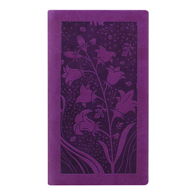 """Letts Blossom 12-Month Weekly Pocket Planner, 5 7/8"""" x 3 1/8"""", Purple, January 2021 - December 2021, Multilingual PURPLE BLOSSOM PERFECT BINDING  SOFT COVER"""