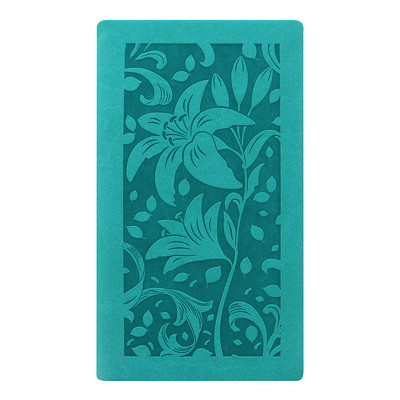 """Letts Blossom 12-Month Weekly Pocket Planner, 5 7/8"""" x 3 1/8"""", Green, January 2021 - December 2021, Multilingual GREEN BLOSSOM PERFECT BINDING  SOFT COVER"""