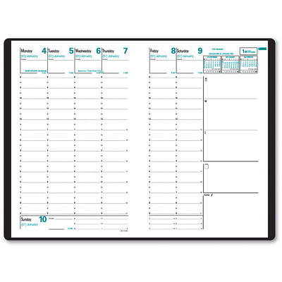 """Quo Vadis 13-Month Weekly Minister Appointment Planner Refill, 6 1/4"""" x 9 1/2"""", December 2020 - December 2021, English 6-1/4 X 9-1/2 ENGLISH FOR A15102  37% PCW"""