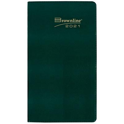 "Brownline 2-Year Monthly Pocket Planner, 6 1/2"" x 3 1/2"", Assorted Colours (Black, Navy, Burgundy or Green), January 2021 - December 2022, English ENG ASST.BLK NAVY BURG GREEN 50% PCW  FSC CERT"