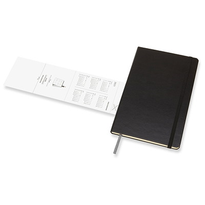 "Moleskine 12-Month Weekly Planner, 8 1/4"" x 5"", Black, January 2021- December 2021, English  12 MTHS JAN-DEC  140 PGS BLK HARDCOVER 2 PGS/WK   FSC CERT"