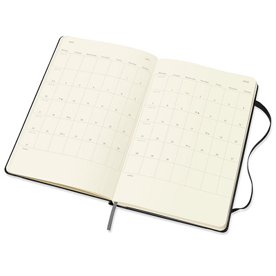 """Moleskine 12-Month Weekly Planner, 5"""" x 8 1/4"""", Black, January 2021 - December 2021, English 1PPW  BLACK  8.5""""X5"""" HARDCOVER"""
