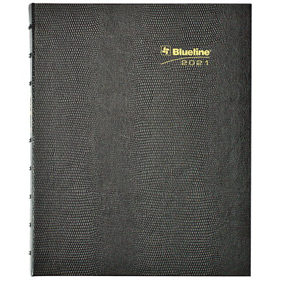 "Blueline MiracleBind 16-Month Monthly Planner, 9 1/4"" x 7 1/4"", Black, September 2020 - December 2021, Bilingual  HARD BLACK COVER BILINGUAL  9-1/4"" X 7-1/4"""