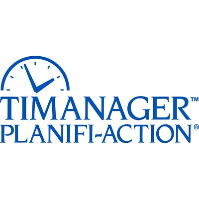 "Blueline Timanager 13-Month Weekly Planner, 8 1/2"" x 6 3/4"", Black, December 2020 - December 2021, Bilingual 8-1/2 X 6-3/4 BILINGUAL 50% PCW  FSC CERTIFIED"