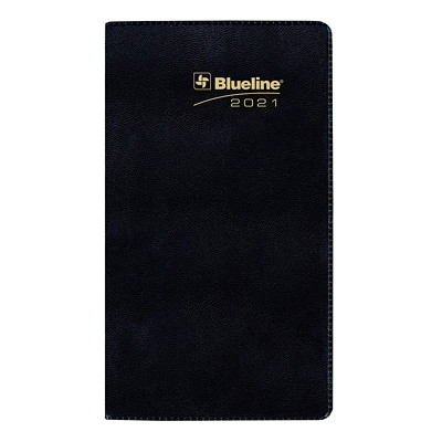 "Blueline Academic 18-Month Monthly Pocket Planner, 6 1/2"" x 3 1/2"", Assorted Colours, July 2020 - December 2021, Bilingual BILINGUAL  6-1/2X3-1/2 18-MONTH  ASSORTED COLOURS"