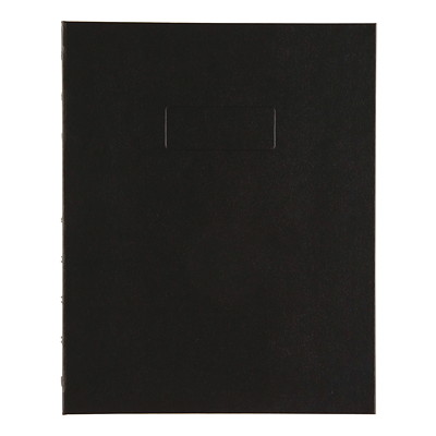 "Blueline NotePro Coiled Notebook, 192 Pages, Black, 9 1/4"" x 7 1/4"" 7-1/4 REINFORCED HINGE RULED W/MARGIN 192PAGE"