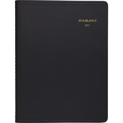 """At-A-Glance 15-Month Monthly Planner, 11"""" x 9"""", Black, January 2021 - March 2022, English 9 X 11 BLK ENGLISH"""